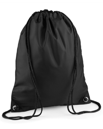 WICK HIGH SCHOOL BLACK PREMIUM GYMSACK/SHOEBAG WITH LOGO